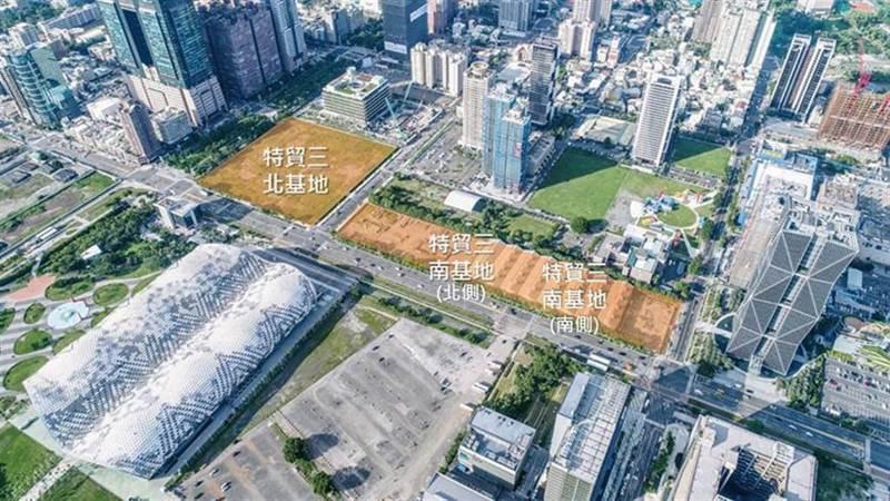高雄亞灣「特貿三」基地改採公辦都更權利變換方式開發,1.6萬坪土地並分三塊,提高投資誘因。圖/高雄市都發局提供