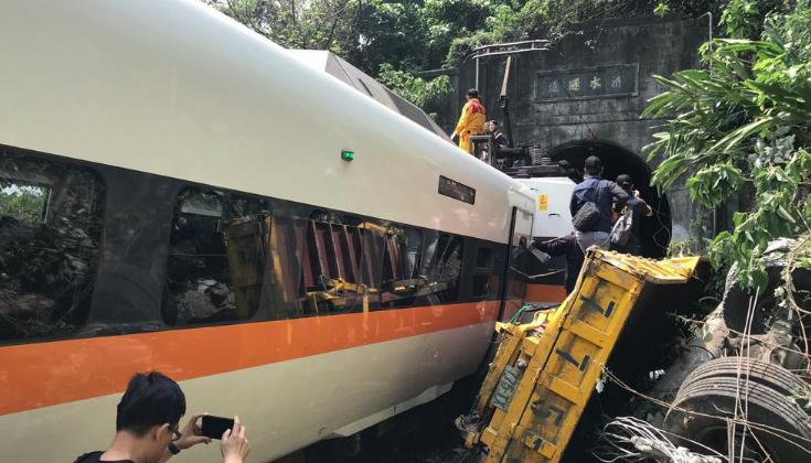 太魯閣號撞車事故釀重大死傷。本報資料照片