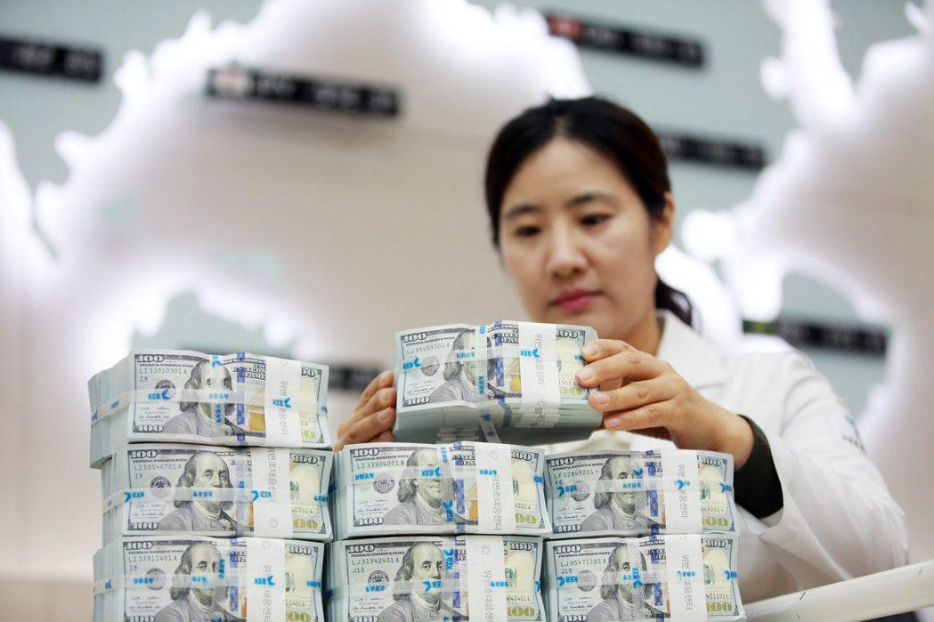 南韓外匯存底規模在2月底升至全球第八名,為2019年3月來首度重奪該頭銜。歐新社