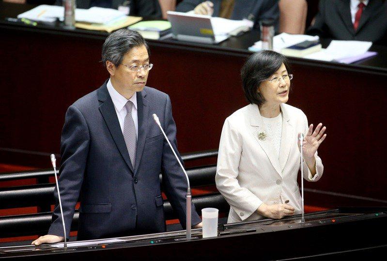 馬英九的前幕僚表示,羅瑩雪給人最深的印象,就是面對在野黨的攻擊時,不會迴避。圖/聯合報系資料照片