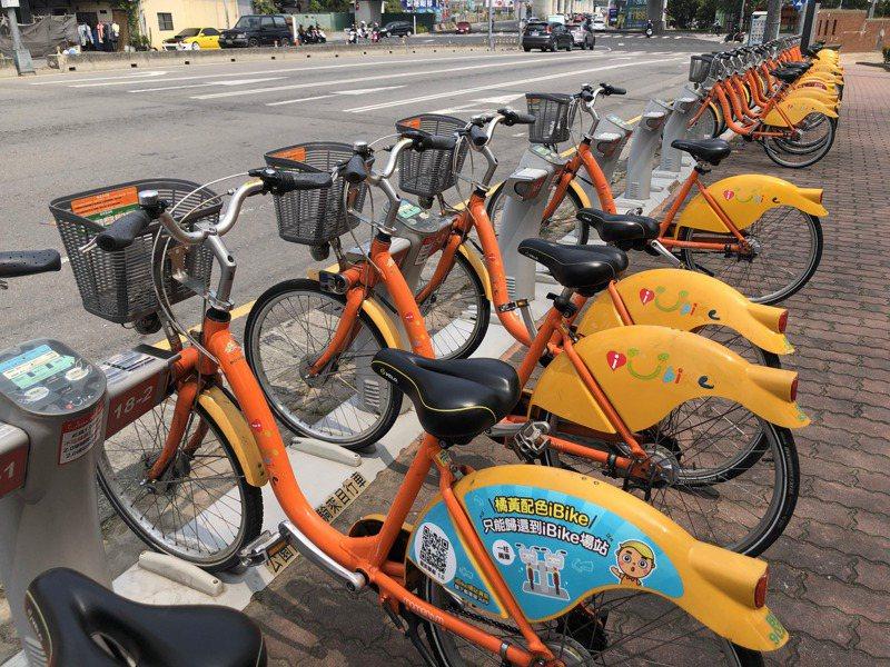 台中市公共單車前半小時優惠,近期可能改為「台中市民限定」。記者陳秋雲/攝影