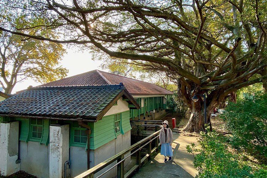 前日軍衛戍醫院安靜古樸,周圍樹木參天。 圖/泰國劉德華 攝影