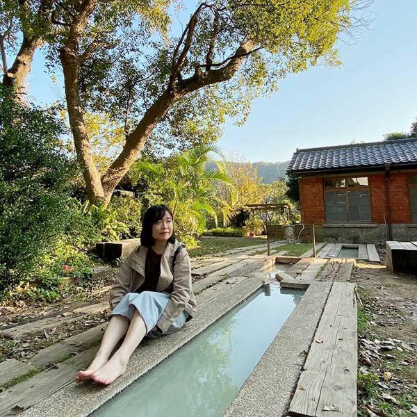 衛戍醫院側的足浴池。 圖/泰國劉德華 攝影