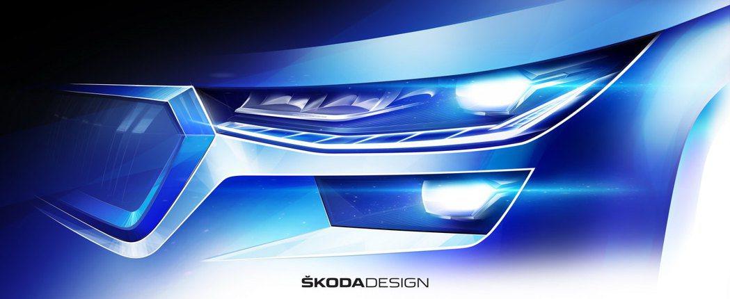 小改款ŠKODA Kodiaq頭燈變得更為纖細。 摘自ŠKODA