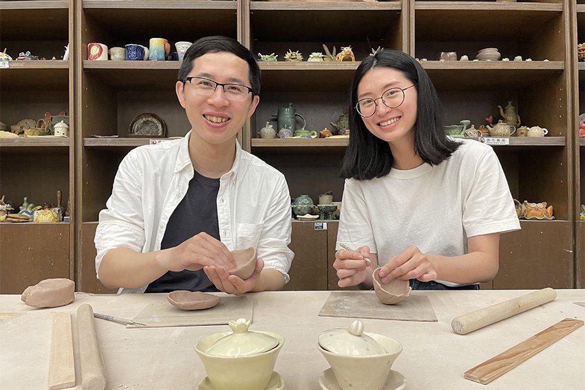 「陶茶之旅」參與者可以手作完成1組蓋碗。 陶博館/提供