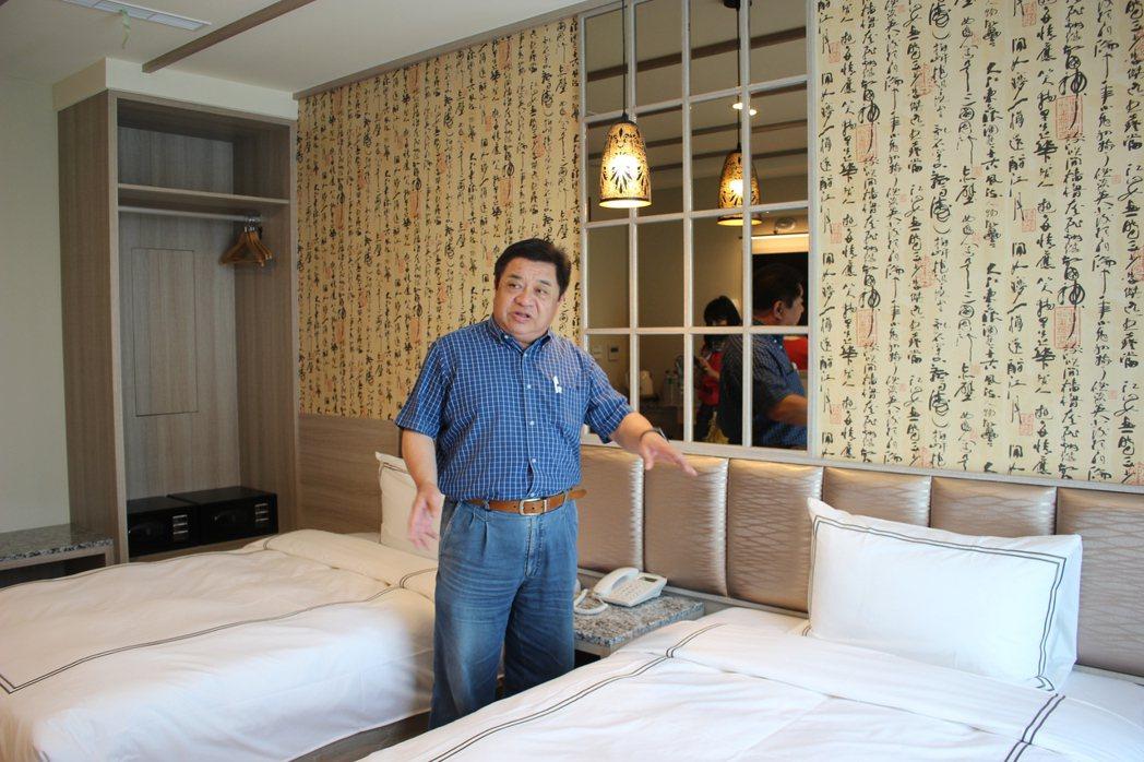 三橋渡假旅店由桃園在地知名品牌建商-喜寶建設董事長許長壽一手打造。 吳佳汾/攝影