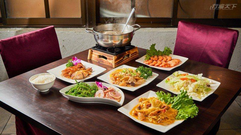 山上物資不易抵達,靠主廚料理出一桌好味在地野菜料理。