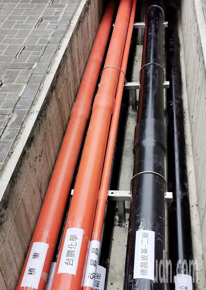 經濟部工業局斥資3.1億元建置大園工業區放流管理系統及共同管溝完工啟用,為傳統工...