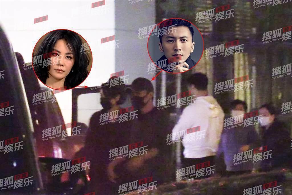 謝霆鋒和王菲一同和友人聚餐、甜蜜牽手。圖/翻攝自搜狐娛樂