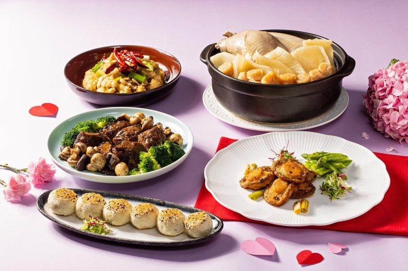國賓推出融合川、粵經典的母親節外帶套餐,圖為國賓川菜廳外帶餐點。圖/台北國賓提供