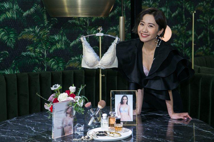 Lulu黃路梓茵成為黛安芬年度代言人,並開心分享挑選內衣心得。圖/Triumph...