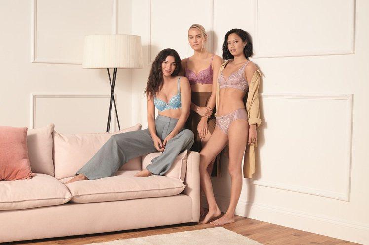 黛安芬春夏FLORALE系列胸罩2,380元起。圖/Triumph提供