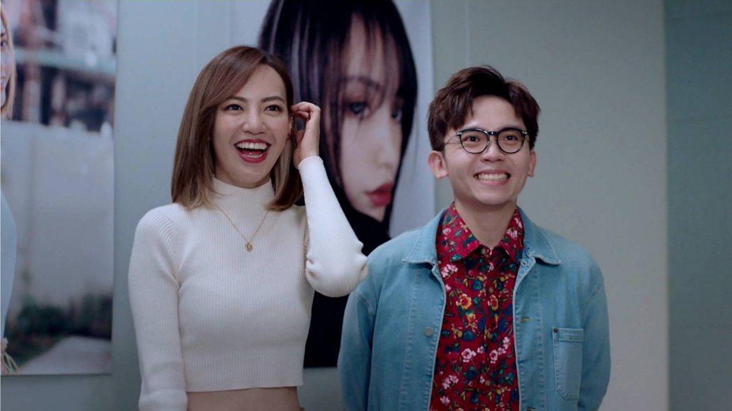 焦恩俊女兒焦曼婷(左)與黃豪平在「戀愛是科學」中演機車明星與經紀人。 圖/台視提
