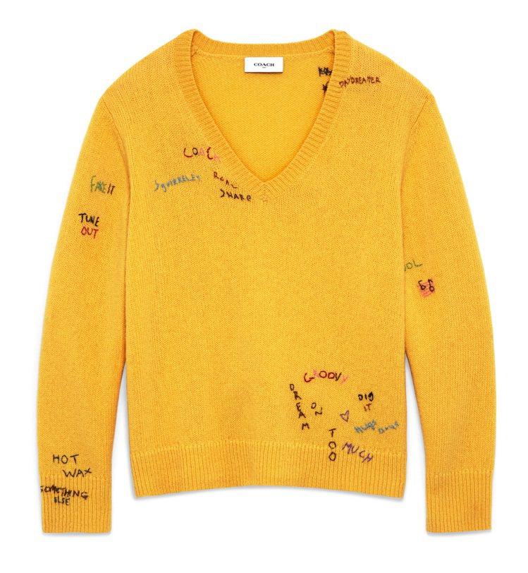 刺繡毛衣,16,800元。圖/COACH提供