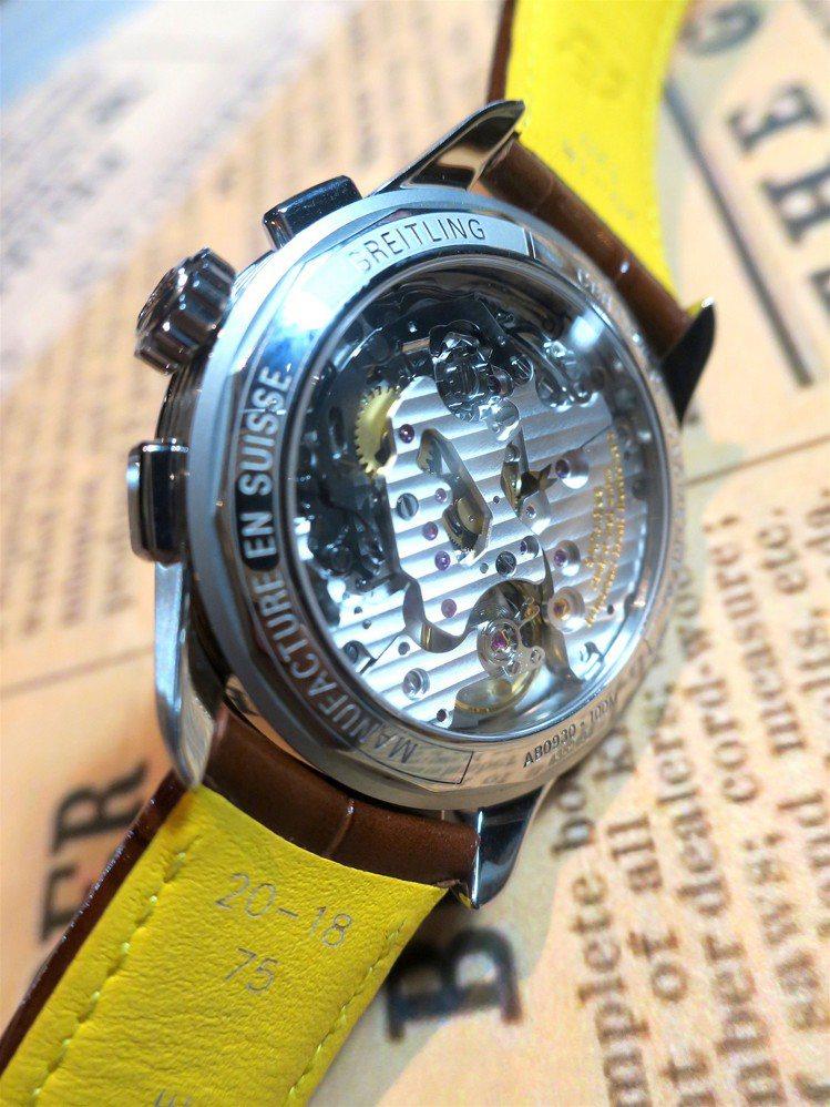 Premier B09計時碼表使用表廠自製的B09手上鍊機芯,具備導柱輪、垂直耦...