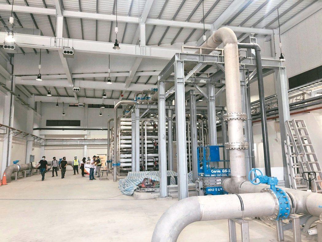 台南永康設置全台首座高科技製程用再生水廠。(本報系資料庫)