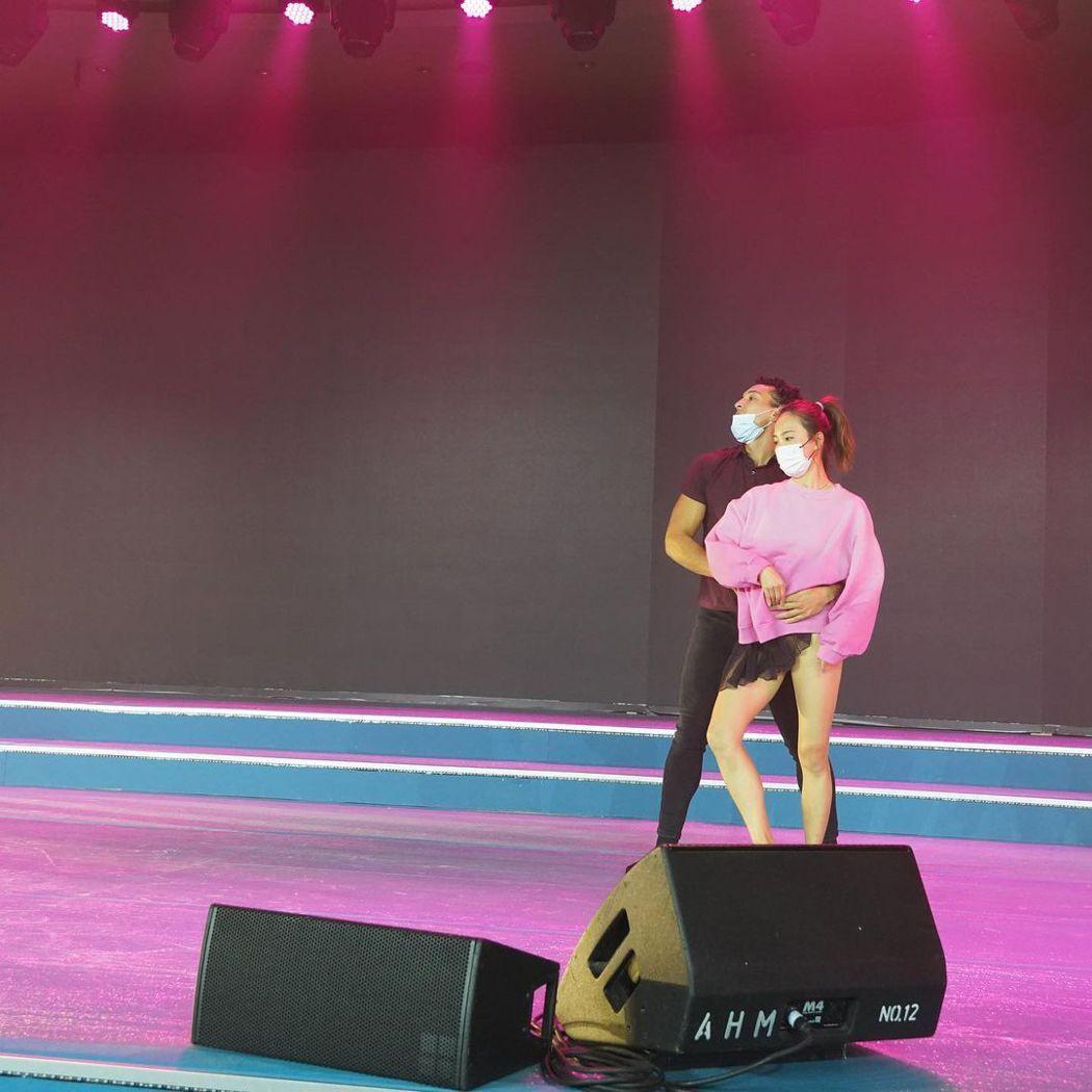 """李炘颐日前为香港电视台""""ViuTV""""的5周年庆祝活动热舞表演。图/撷自""""alin..."""