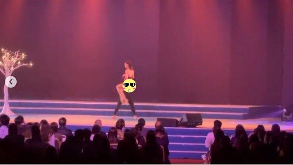 李炘頤日前為香港電視台「ViuTV」的5週年慶祝活動熱舞表演。圖/擷自「alin