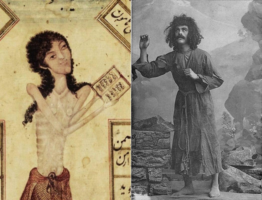 「愛能夠使嚴重的精神失衡,轉變成實際的身體疾病。」左為瑪吉努畫像,右為1908年...