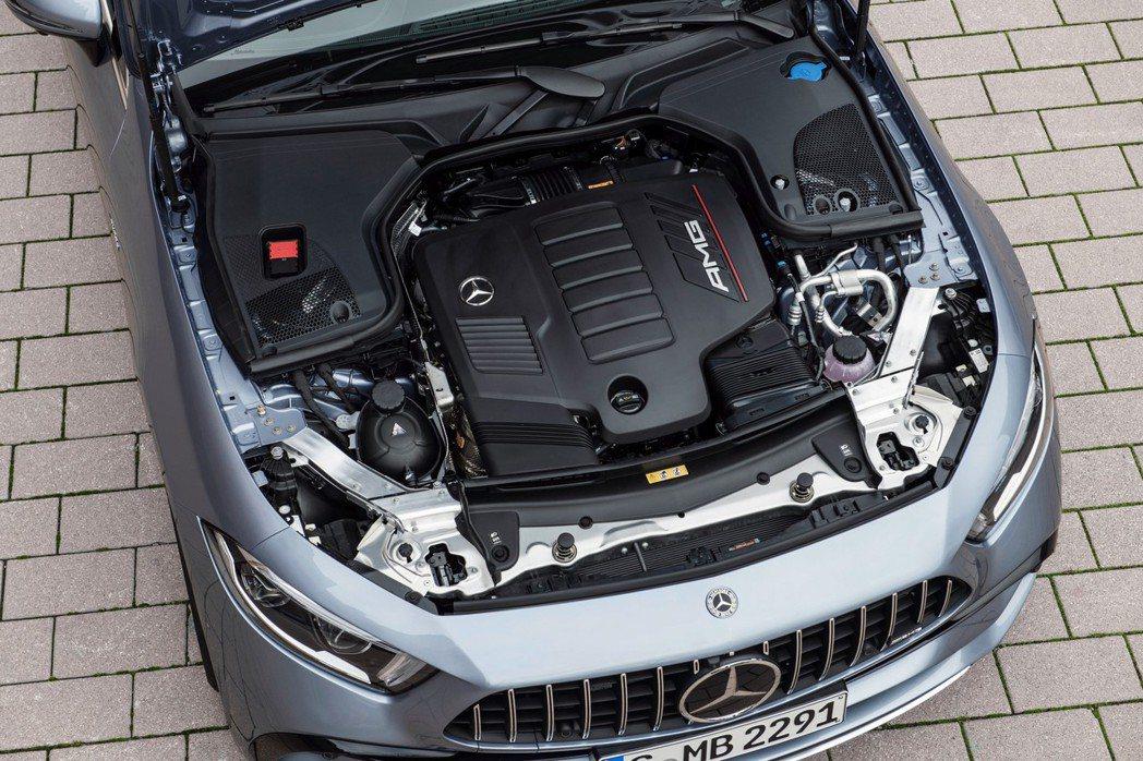 CLS 53配置3.0T直六引擎加EQ Boost輕油電系統。 圖/Merced...