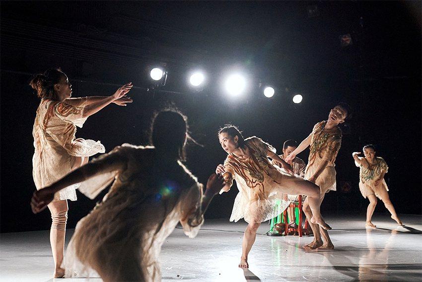 考古生活節首度加入快閃式互動劇場演出。 十三行博物館/提供