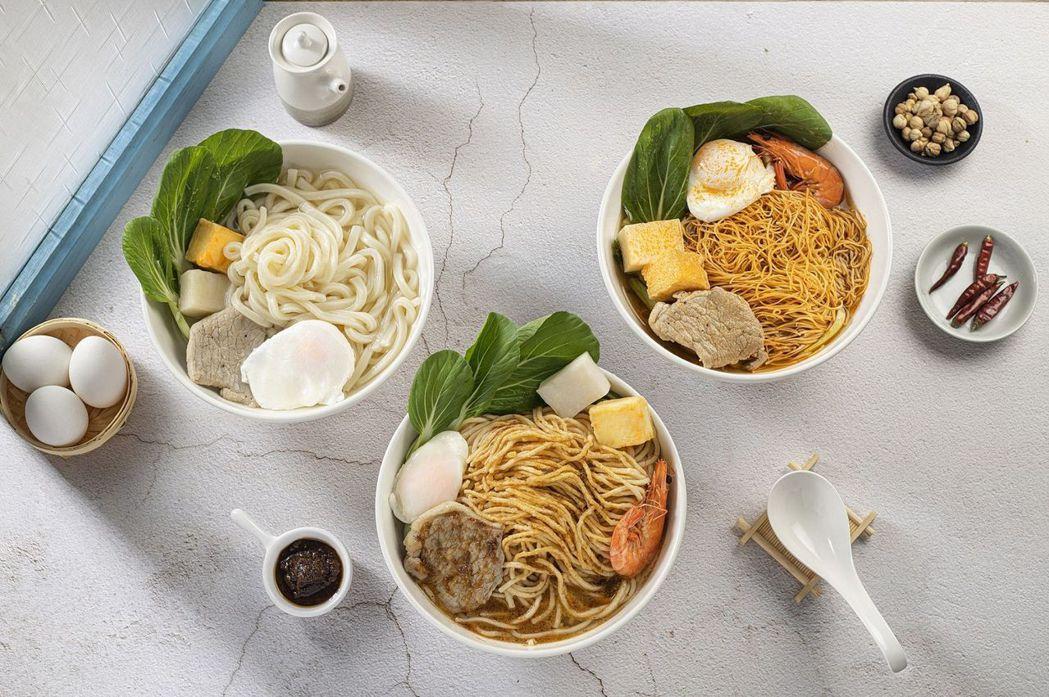 早安美芝城三種全新口味的鍋燒麵使用台灣在地優質好食材。 早安美芝城/提供