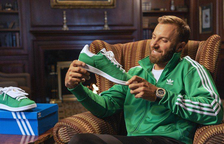 2020年美國人名賽冠軍Dustin Johnson展示adidas首款Stan...