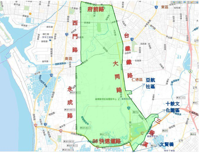 自來水公司配合台南鐵路地下化工程,將在沿線停水兩天。圖/自來水公司提供