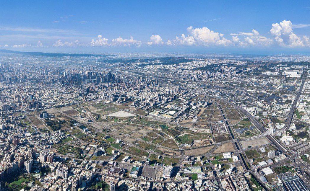 台中水湳經貿園區開發前景受矚目。台中市地政局提供