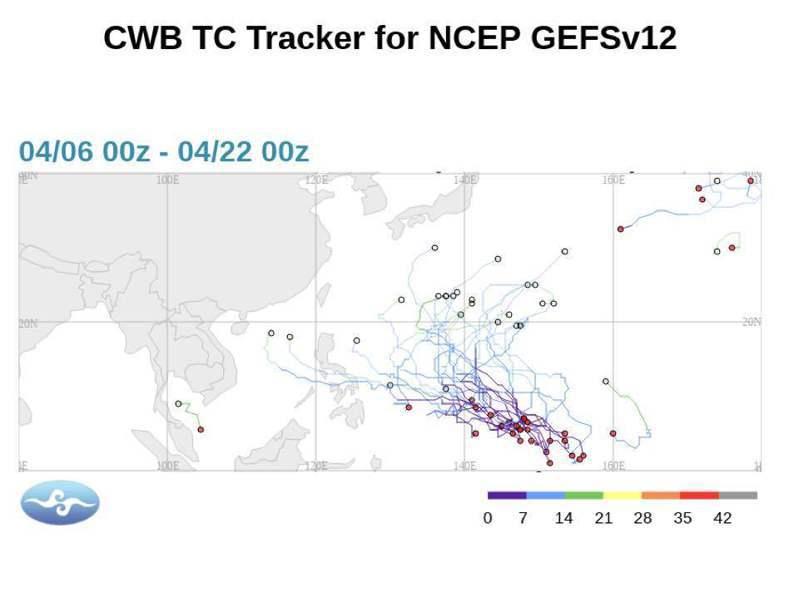 中央氣象局長鄭明典在臉書上說,熱帶氣旋可能改變大尺度氣流,間接影響台灣的天氣。圖/取自鄭明典臉書