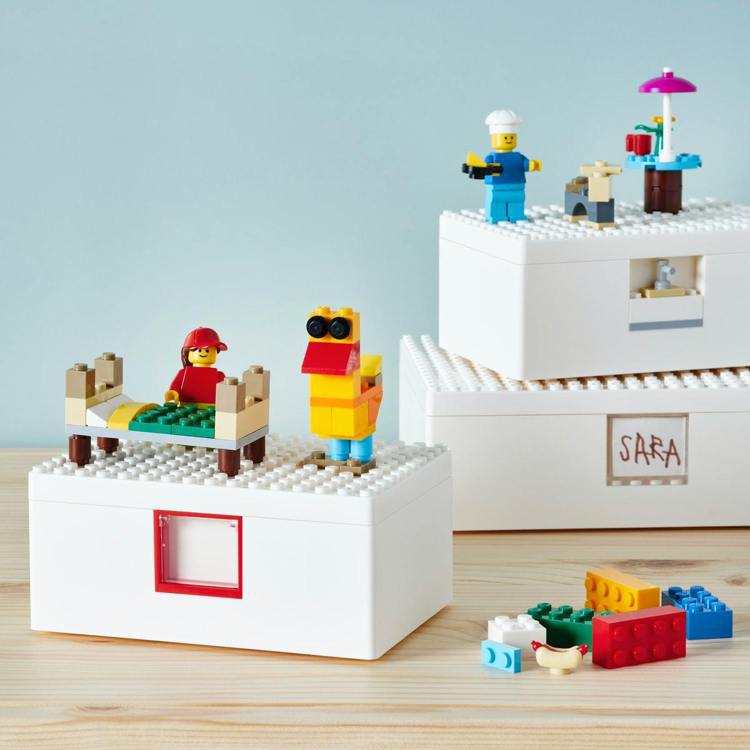 IKEA X LEGO樂高合作的BYGGLEK系列,台灣將於4月8日開賣。圖/I...
