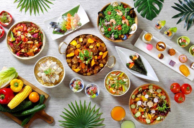 台北花園大酒店饗聚廚房以無國界料理為主。圖/台北花園提供