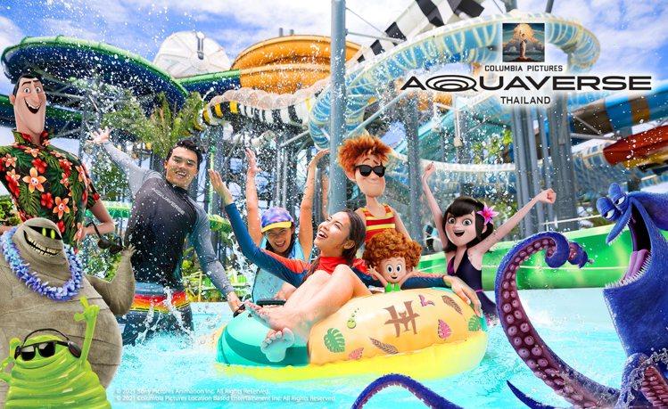 索尼影業今日揭曉首座主題水上樂園。圖/索尼影業提供
