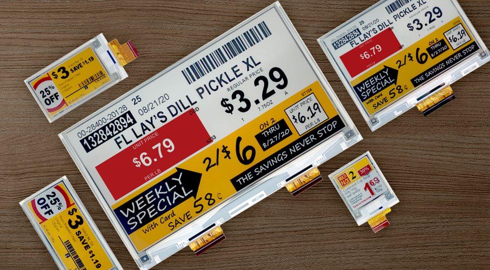 元太E Ink Spectra 3100四色電子紙以黑、白、紅與黃等色,滿足零售...