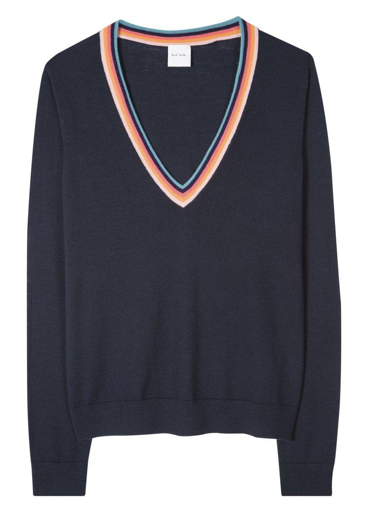 Paul Smith春夏系列V領針織衫11,800元。圖/藍鐘提供