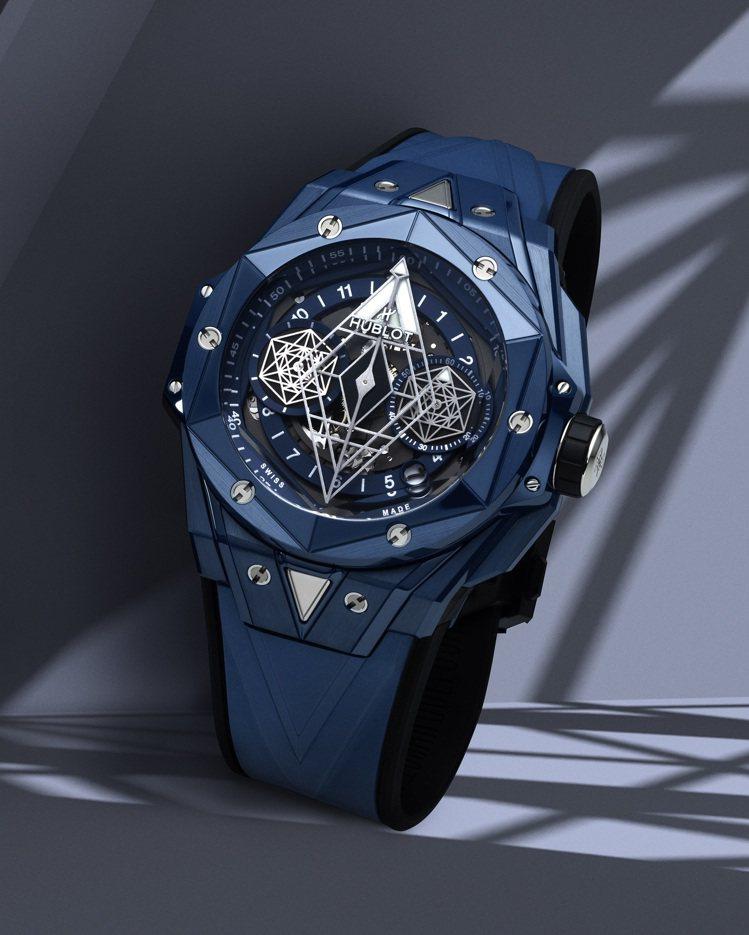 Big Bang Sang Bleu II系列藍色亮彩陶瓷腕表,84萬7,000...