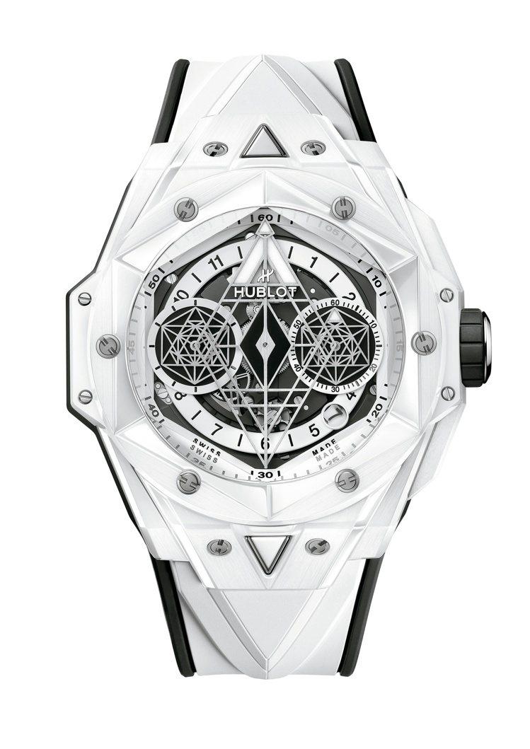 Big Bang Sang Bleu II系列白色亮彩陶瓷腕表,84萬7,000...
