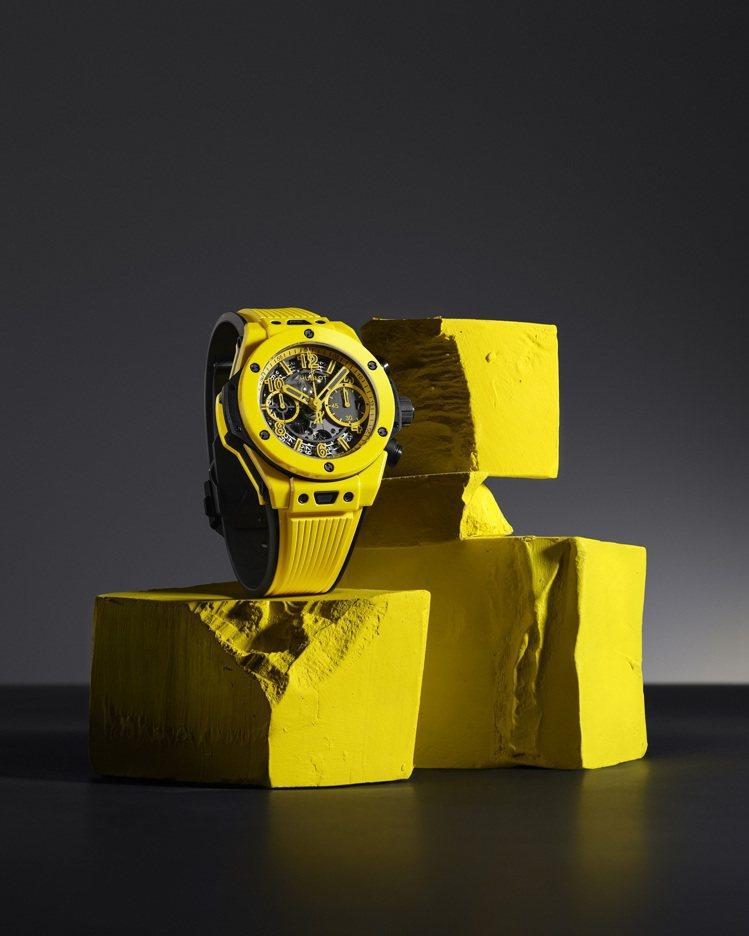 Big Bang Unico Yellow Magic魔力黃陶瓷計時碼表,81萬...