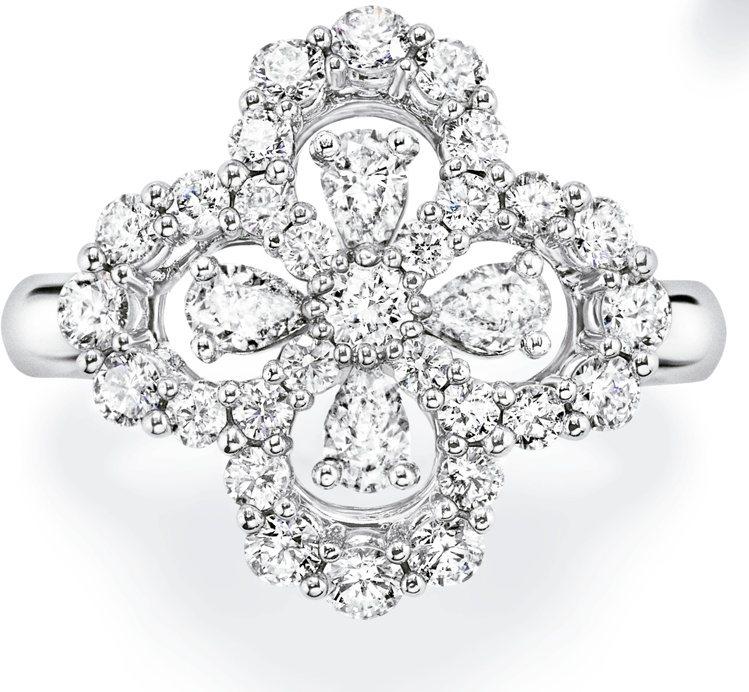 海瑞溫斯頓Diamond Loop系列鑽石戒指,鑽石總重約1.07克拉、鉑金底座...