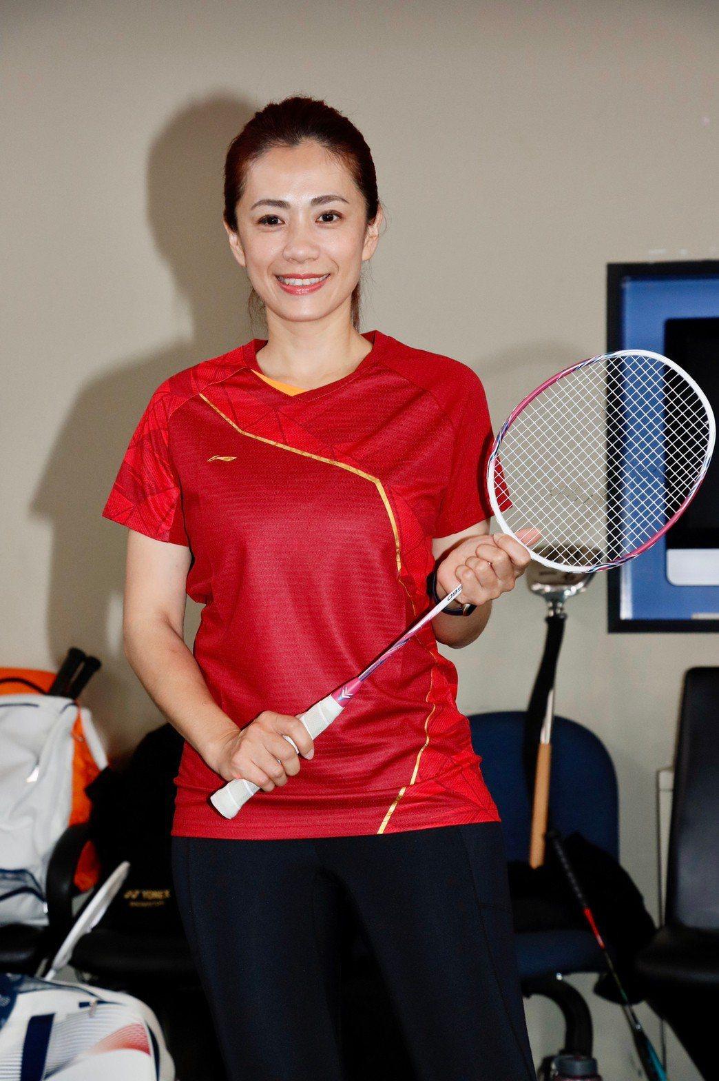 柯以柔出席全明星羽球賽。記者李政龍/攝影