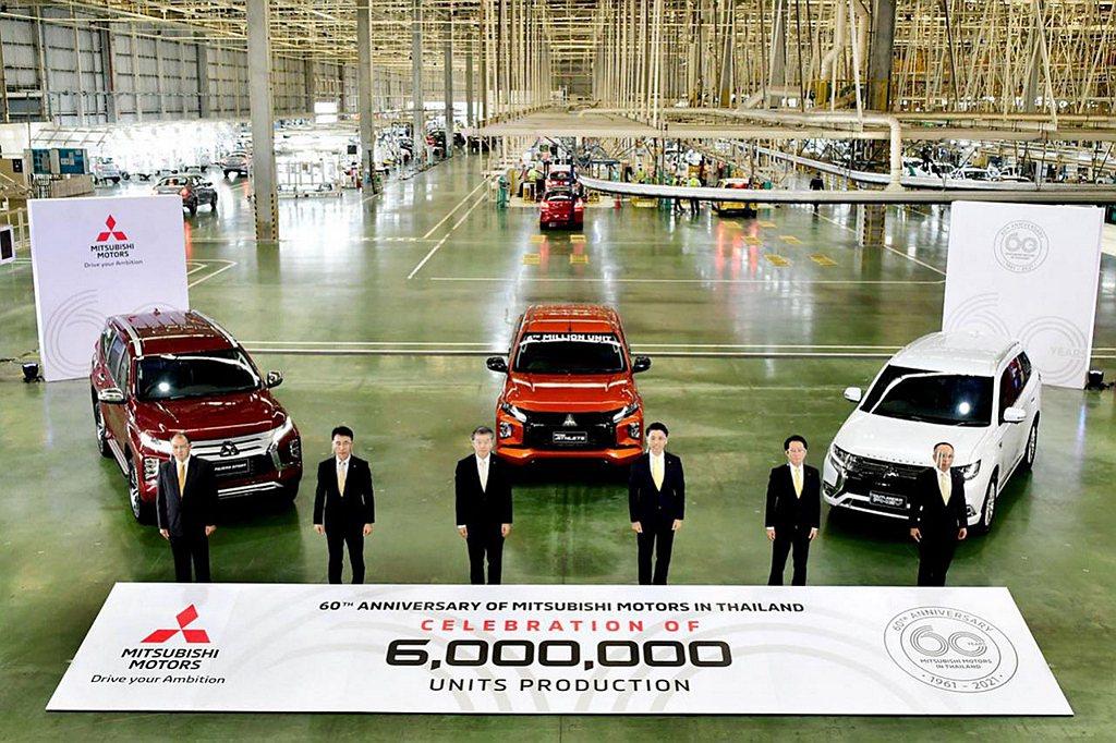 日本三菱汽車宣布泰國分公司當地新車累積生產達600萬輛規模。 圖/Mitsubi...