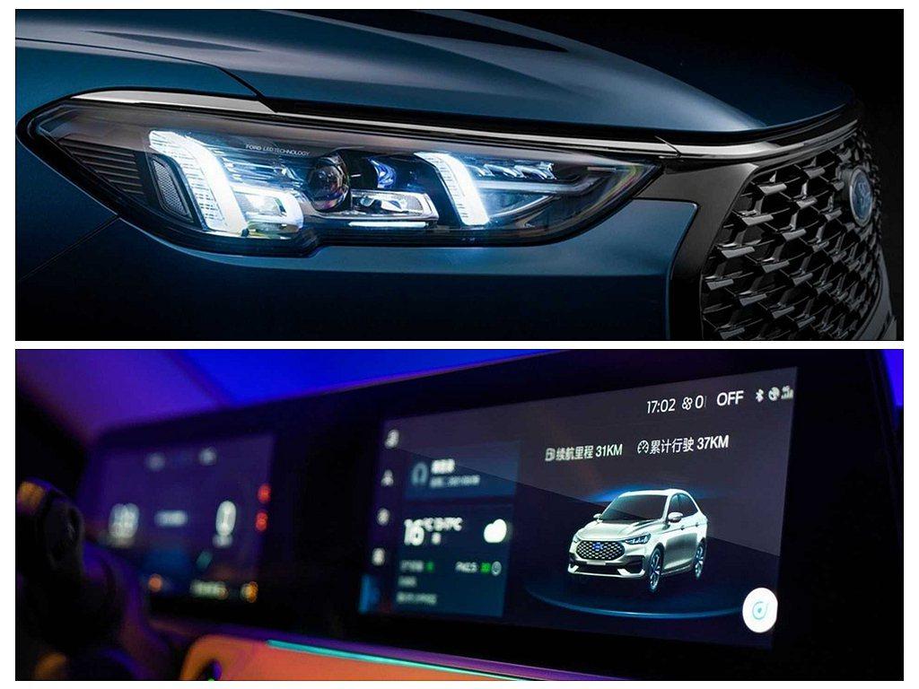 新世代Ford Escort除前、後燈具導入LED光源,車內更採用與賓士相似的雙...