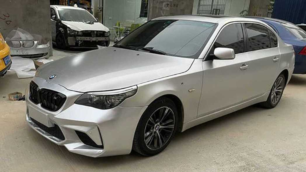 中國淘寶E60 5-Series改BMW M2 Competition前保桿成果...