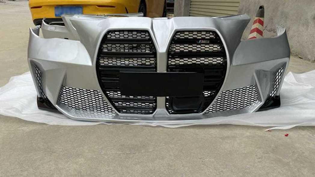E60 5-Series改全新BMW M3 前保桿素材。 摘自掏寶