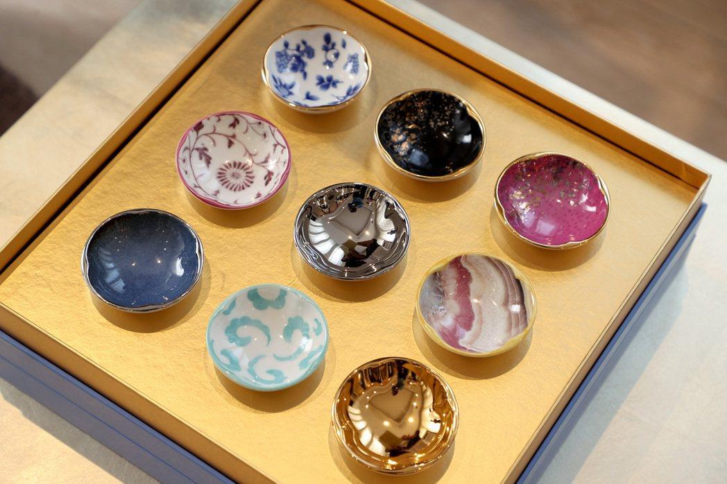 張聰設計的食器有中國藝術的底蘊,如九宮格來自「河洛圖書」。圖/Joey Yu 攝...