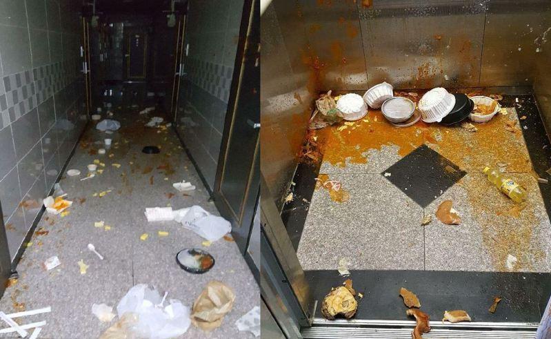 南韓一名女子近日花了約100萬韓元(約新台幣2.5萬元)叫外送,不過她不但一口都沒吃,還全部拿來潑灑公寓。 圖擷自臉書粉專《천안 대신전해드려요》