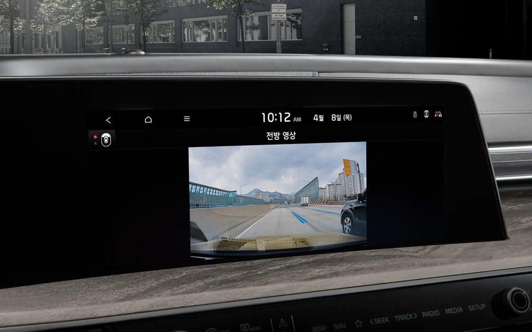 Kia K8導入SVM環景系統。 摘自Kia