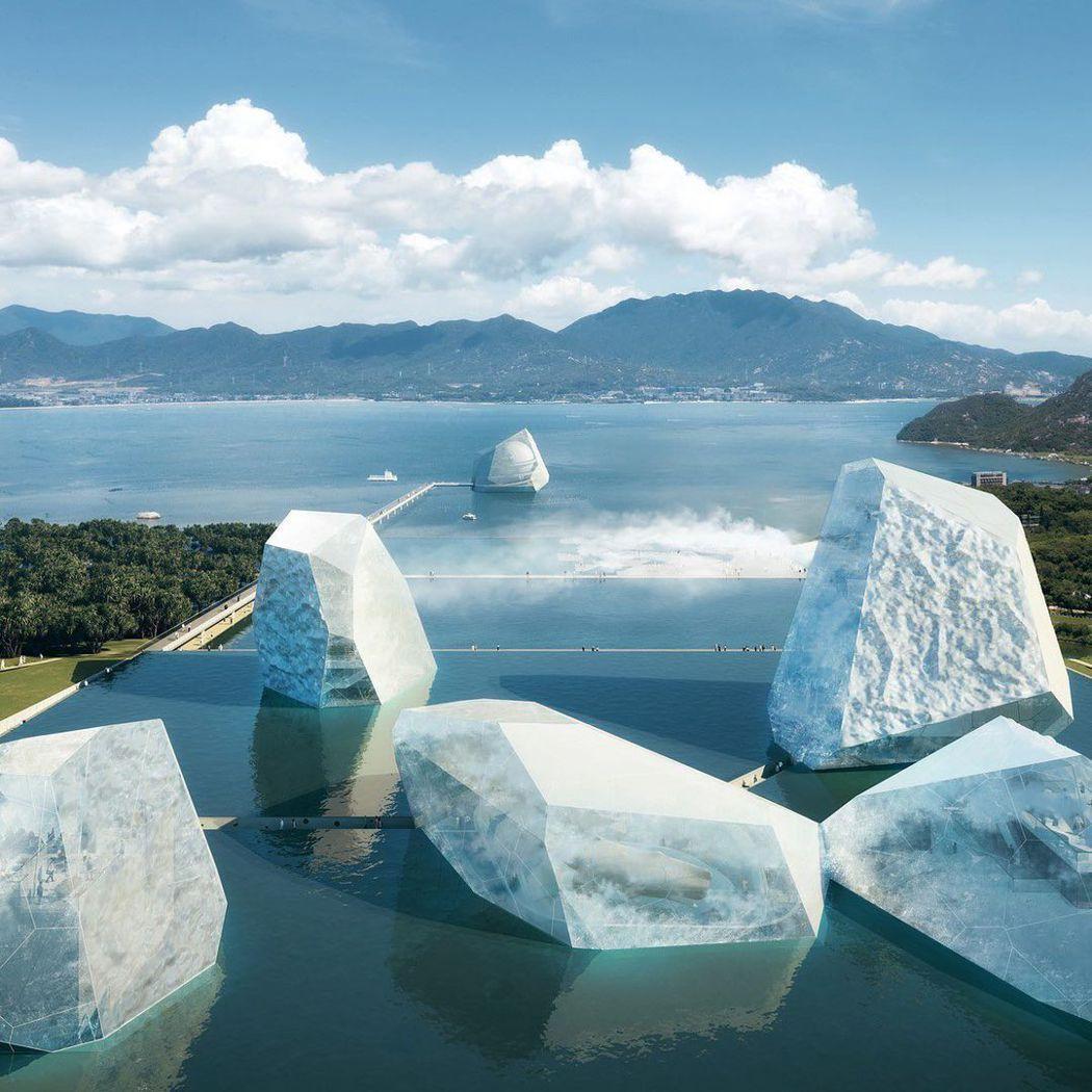 OPEN建築事務所以「冰山和大海」,參與深圳海事博物館競圖。 圖/OPEN提供