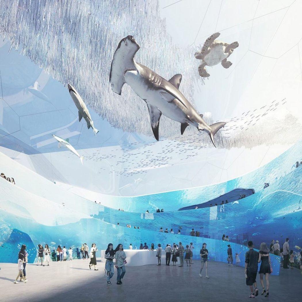 深圳海事博物館正在舉辦競圖,OPEN建築事務所的作品,成為大家討論焦點。 圖/O...