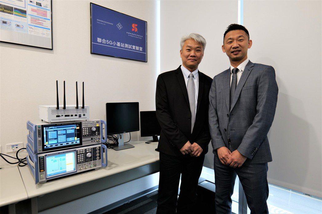 R&S與信曜科技聯合5G小基站測試實驗室,信曜科技創辦人黎志明(左)與信曜科技創...